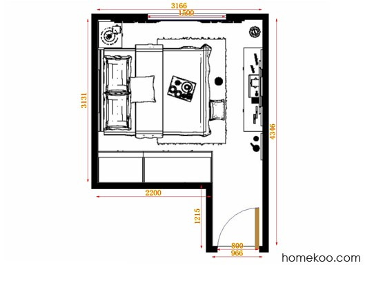 平面布置图斯玛特系列卧房A13883