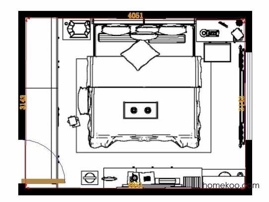 平面布置图格瑞丝系列卧房A13887