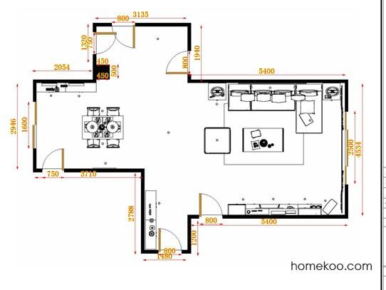 平面布置图斯玛特系列客餐厅G14057