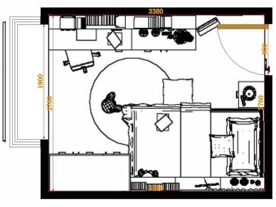 平面布置图柏俪兹系列青少年房B11892