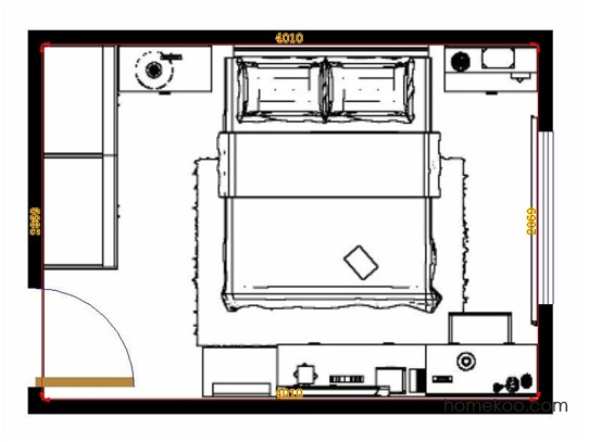 平面布置图斯玛特系列卧房A13891