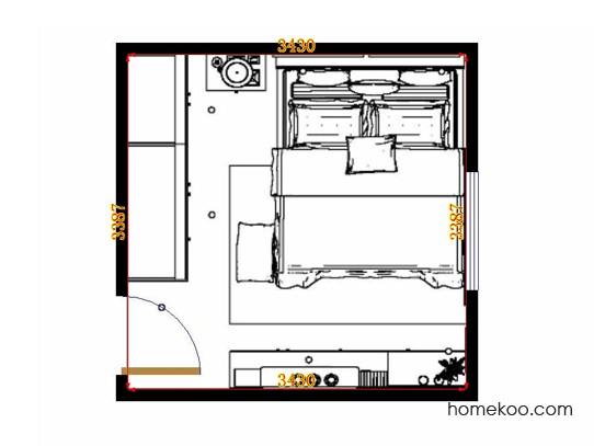 平面布置图贝斯特系列卧房A13897
