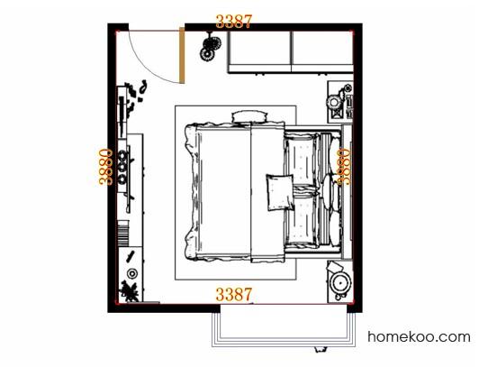 平面布置图乐维斯系列卧房A13898