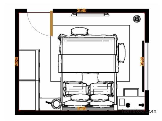 平面布置图斯玛特系列卧房A13899