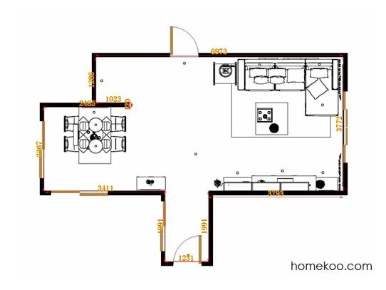 平面布置图贝斯特系列客餐厅G14062