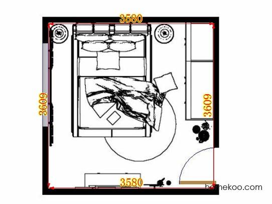平面布置图格瑞丝系列卧房A13904