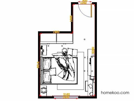 平面布置图贝斯特系列卧房A13908