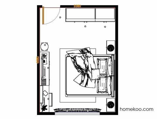 平面布置图贝斯特系列卧房A13918
