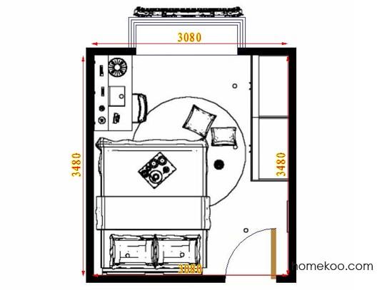 平面布置图斯玛特系列卧房A13921