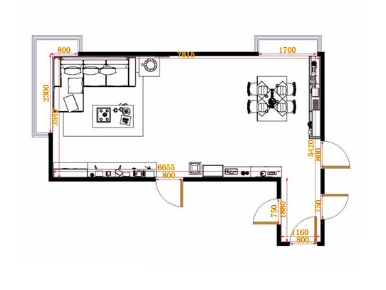 平面布置图乐维斯系列客餐厅G14082