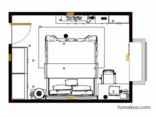 平面布置图德丽卡系列卧房A13927