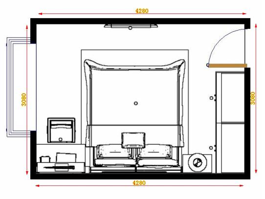平面布置图斯玛特系列卧房A13930
