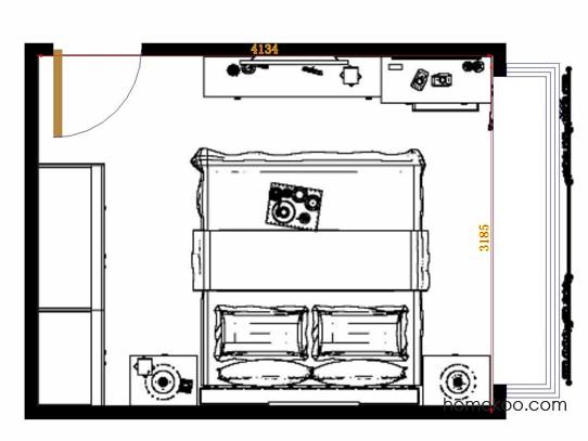 平面布置图斯玛特系列卧房A13941