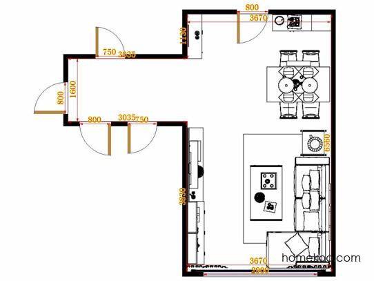 平面布置图贝斯特系列客餐厅G14092