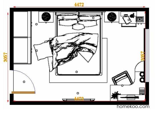 平面布置图德丽卡系列卧房A13943