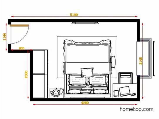 平面布置图德丽卡系列卧房A13949