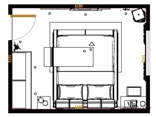 平面布置图柏俪兹系列卧房A13952