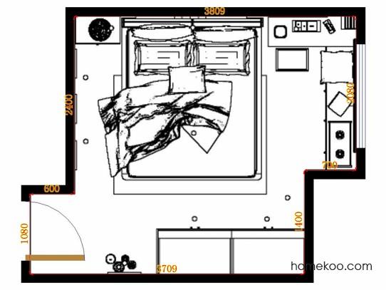 平面布置图贝斯特系列卧房A13954