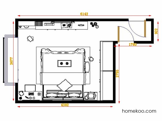平面布置图格瑞丝系列卧房A13955