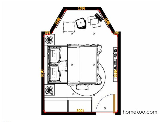 平面布置图贝斯特系列卧房A13956