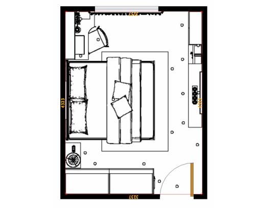平面布置图乐维斯系列卧房A13957