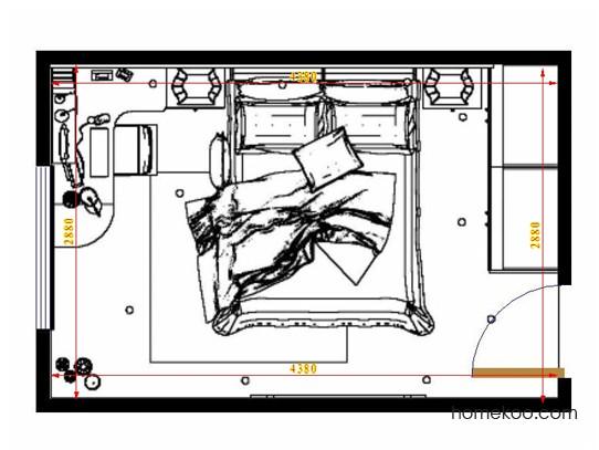 平面布置图柏俪兹系列卧房A13962