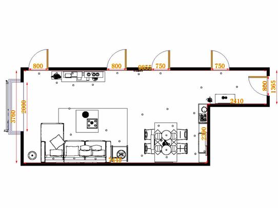 平面布置图乐维斯系列客餐厅G14115