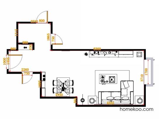 平面布置图斯玛特系列客餐厅G14119