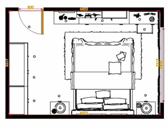 平面布置图格瑞丝系列卧房A13967