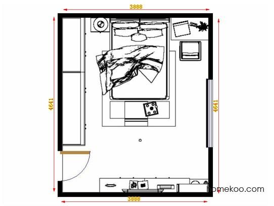 平面布置图斯玛特系列卧房A13971