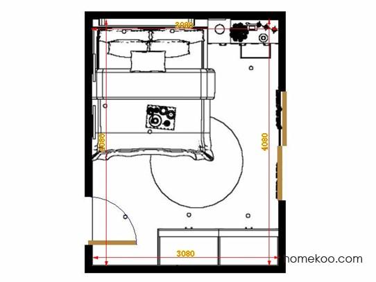 平面布置图贝斯特系列卧房A13989