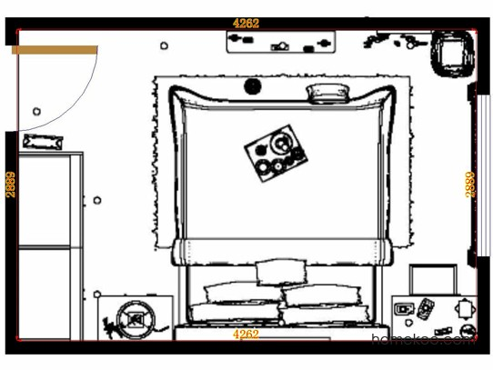 平面布置图贝斯特系列卧房A13991