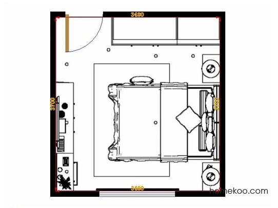 平面布置图德丽卡系列卧房A13994