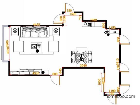 平面布置图德丽卡系列客餐厅G14152