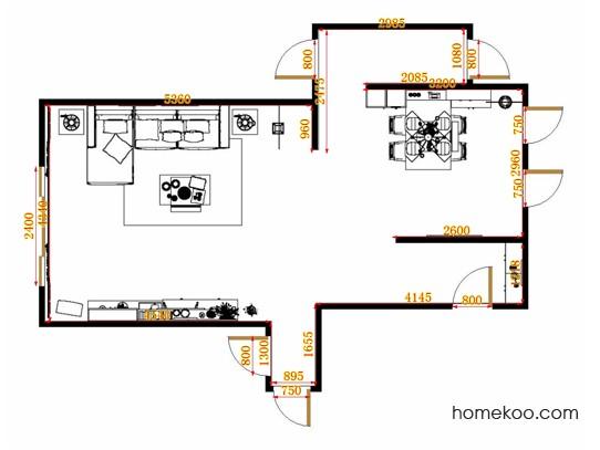 平面布置图乐维斯系列客餐厅G14157