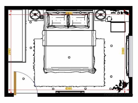 平面布置图贝斯特系列卧房A14004