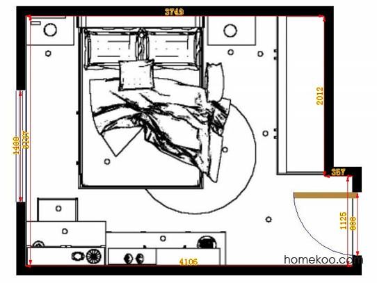 平面布置图柏俪兹系列卧房A14013