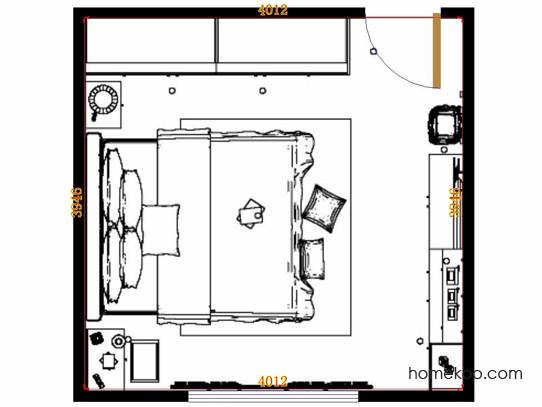 平面布置图乐维斯系列卧房A14015