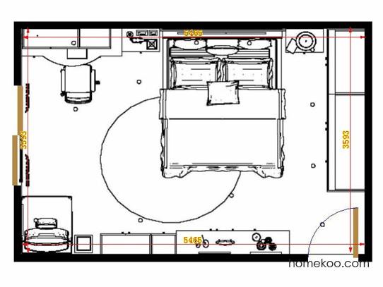 平面布置图德丽卡系列卧房A14019