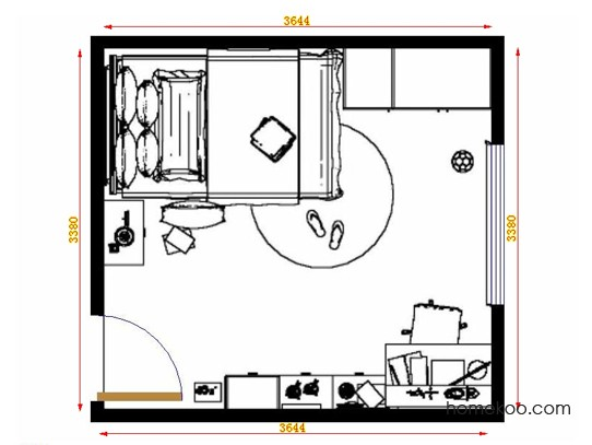 平面布置图贝斯特系列青少年房B11986