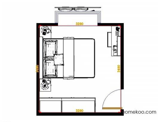 平面布置图格瑞丝系列卧房A14039