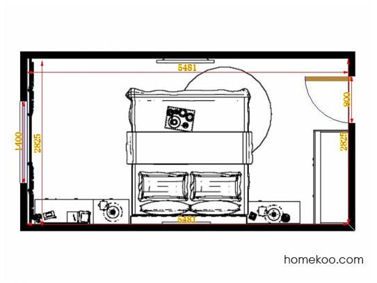 平面布置图格瑞丝系列卧房A14067