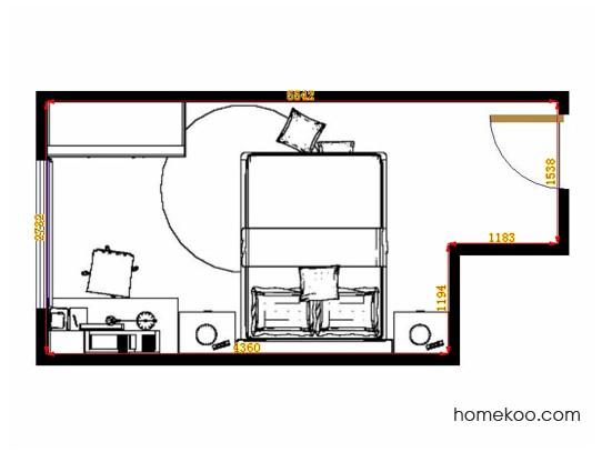 平面布置图斯玛特系列卧房A14074