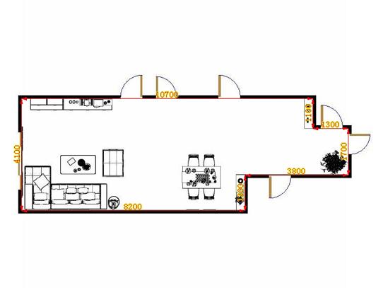 平面布置图柏俪兹系列客餐厅G14240