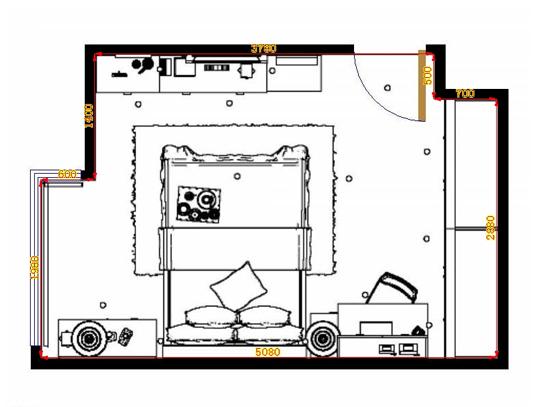 平面布置图贝斯特系列卧房A14079