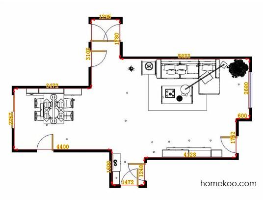 平面布置图斯玛特系列客餐厅G14244
