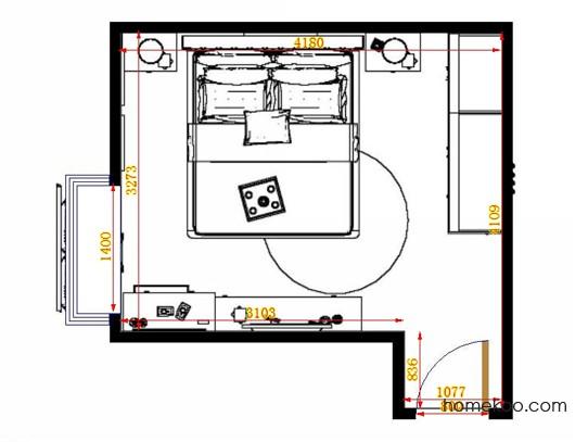 平面布置图格瑞丝系列卧房A14092