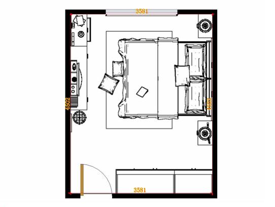 平面布置图贝斯特系列卧房A14098