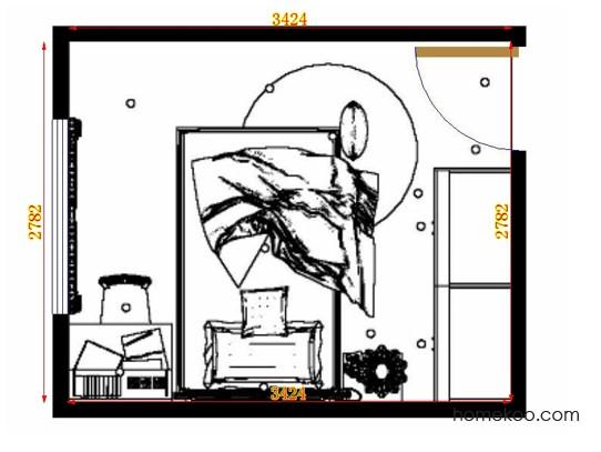 平面布置图德丽卡系列青少年房B12087