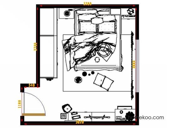 平面布置图德丽卡系列卧房A14113